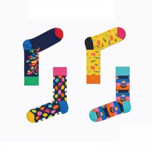 Snappy Happy Colorful Socks (4 pack)